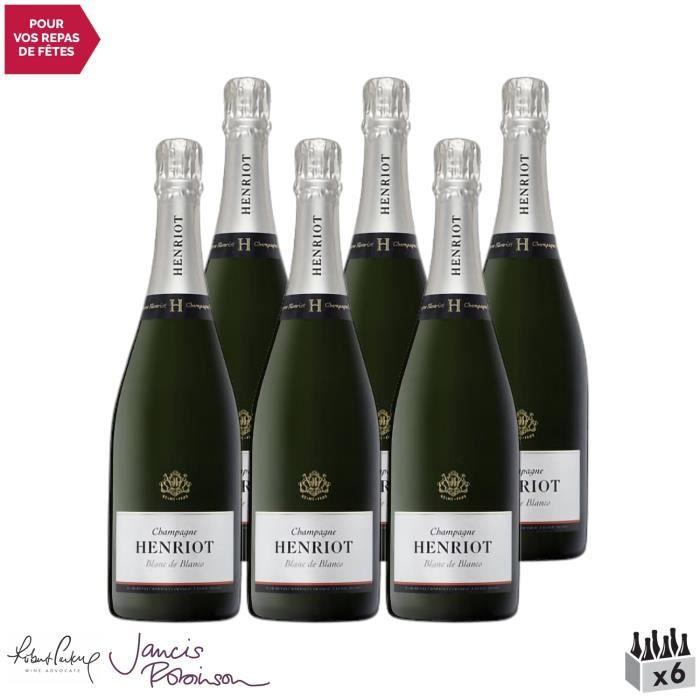 Champagne Blanc de Blancs Blanc - Lot de 6x75cl - Champagne Henriot - 17-20 Jancis Robinson - Cépage Chardonnay