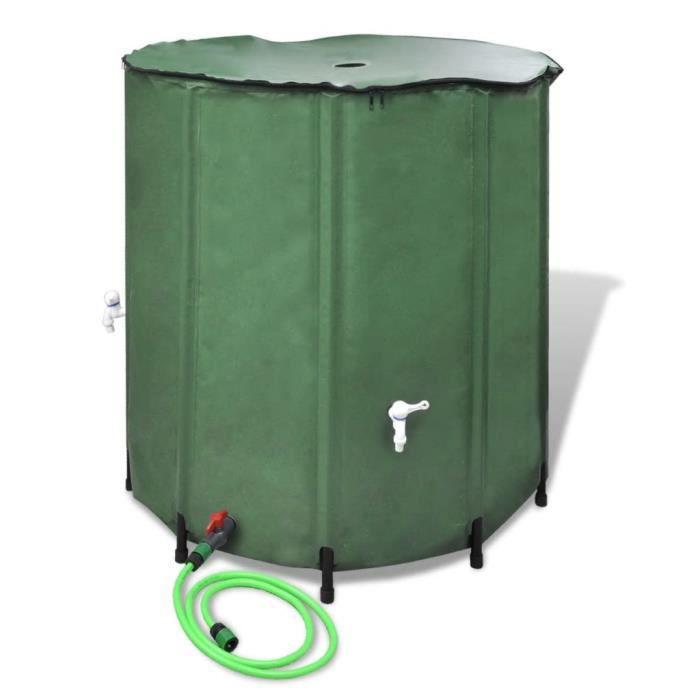 JONMNG® Réservoir d'eau de pluie pliable 750 L Récupérateur d'eau de pluie Collecteur d'eau de pluie OGDFIK