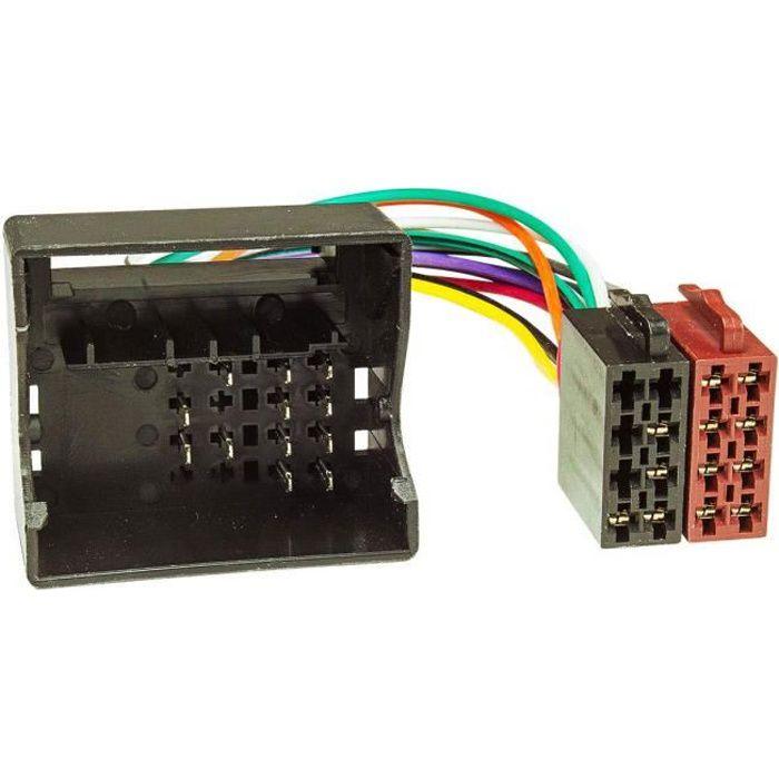 Baseline connect câble adaptateur d'autoradio pour renault megane, twingo laguna quadlock ab 2009 16 broches fiche iSO