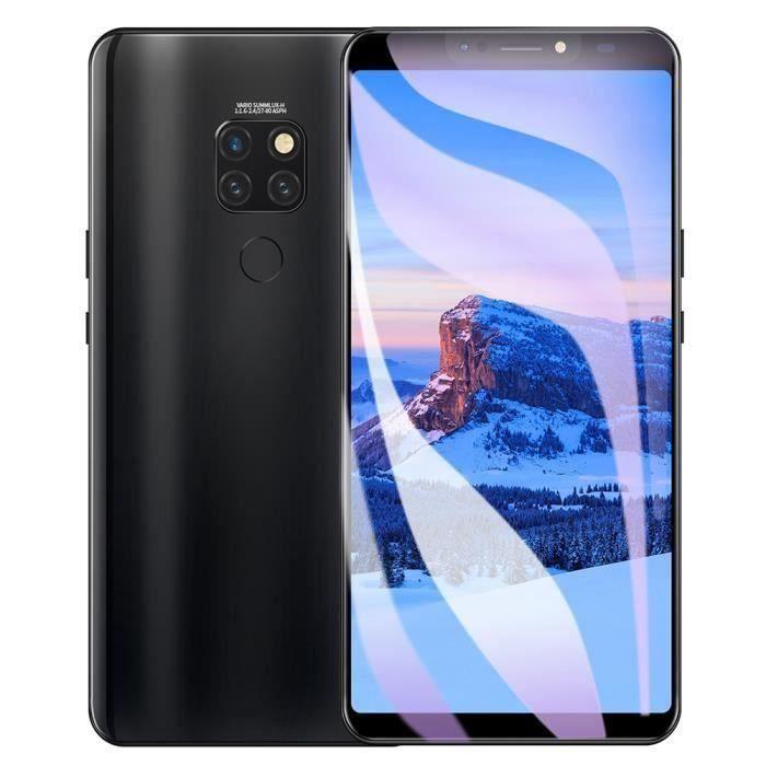 Smartphone téléphone mobile 6.1 '' 4 + 64G Ecran déverrouillé Reconnaissance d'empreintes digitales Double carte 3G EU plug