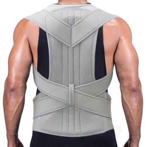CEINTURE LOMBAIRE,Ceinture de soutien de taille de dos de sécurité de Sport hommes femmes orthèse arrière - Type Gris clair-S