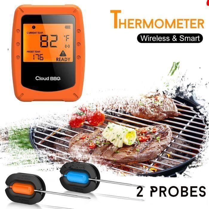 Cuisine Thermometre Barbecue Avec Double Sonde Ecran LCD Thermomètre L52488