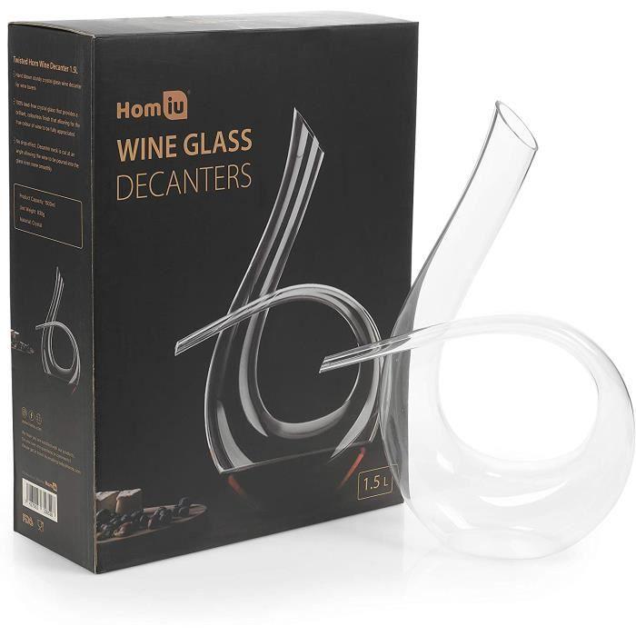 VERRE A VIN Carafe agrave vin en corne torsadeacutee 15 l Design moderne contemporain454