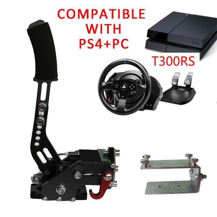 Pièces Auto,Compatible PS4 PC USB frein à main avec pince pour Sim jeux de course G27-G29-G920 T300RS Logitech - Type T300RS Black