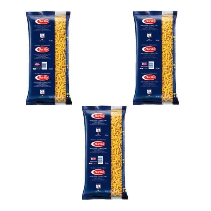BARILLA Pâtes Fusilli - Lot de 3 Paquets de 5 kg