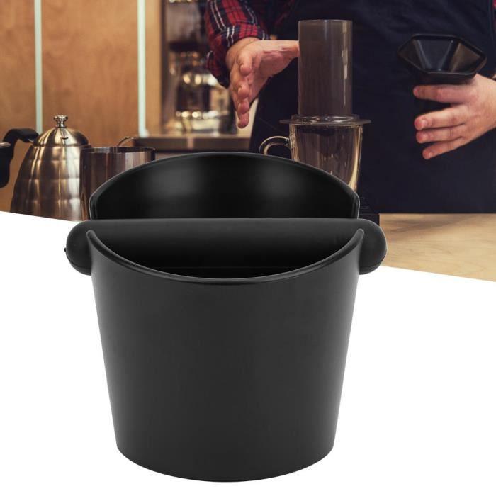 Hililand Récipient à café moulu Seau de marc de laitier anti-dérapant de boîte de frappe de café avec des accessoires de