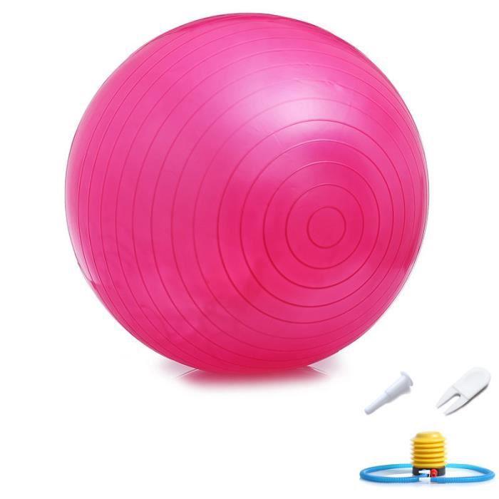Ballon Suisse Fitness Gym Yoga Epais Couleur Unie 55 cm Rouge
