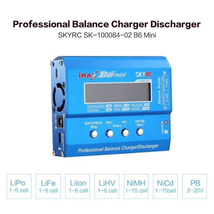 #HUHU SKYRC iMAX B6 Mini RC Chargeur Chargeur Déchargeur 60 W pour LiPo Li-ion LiFe Nimh Nicd Batterie RC Hélicoptère Voiture Drone