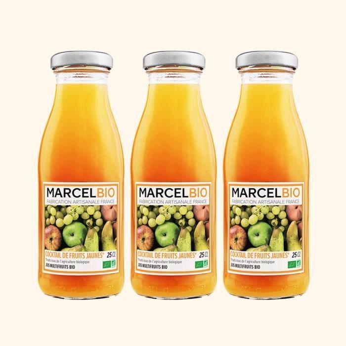 Marcel Bio - Cocktail de Fruits Jaunes Bio 25cl - Pack de 3