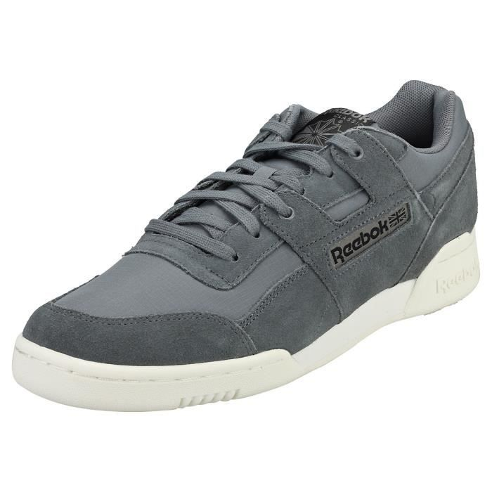 Reebok Workout Plus Mu Homme Baskets gris Noir