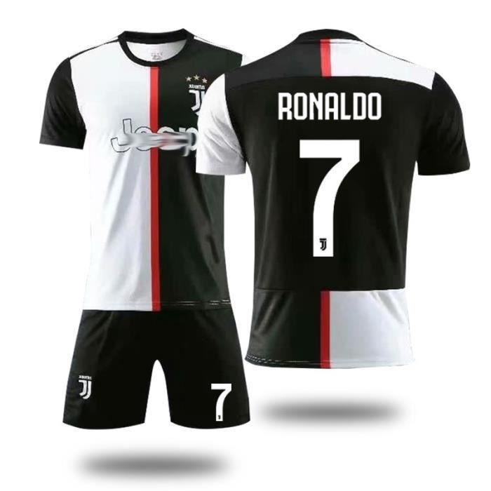 Juventus No. 7 Cristiano Ronaldo Maillot et Shorts de football Homme Noir