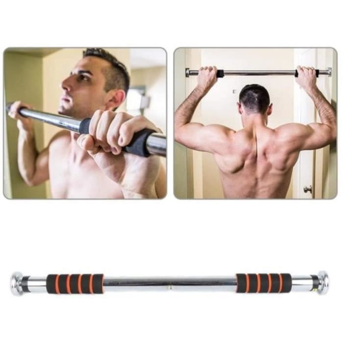 Barre de Traction Porte Barre de Musculation Murale sans Fixation Ajustable, Pull up Bar Tractions à 60-100cm Peut Supporter
