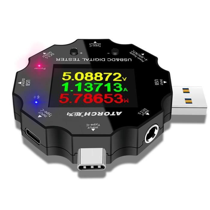 Voltmètre numérique bluetooth UD18 USB3.0 cc type-c 18 en 1 testeur USB APP voltmètre cc HD affichage 6 bits