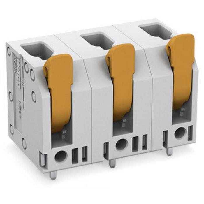 Borne pour circuits imprimés WAGO 2604-3502 4 mm² Nombre total de pôles 2 1 pc(s)