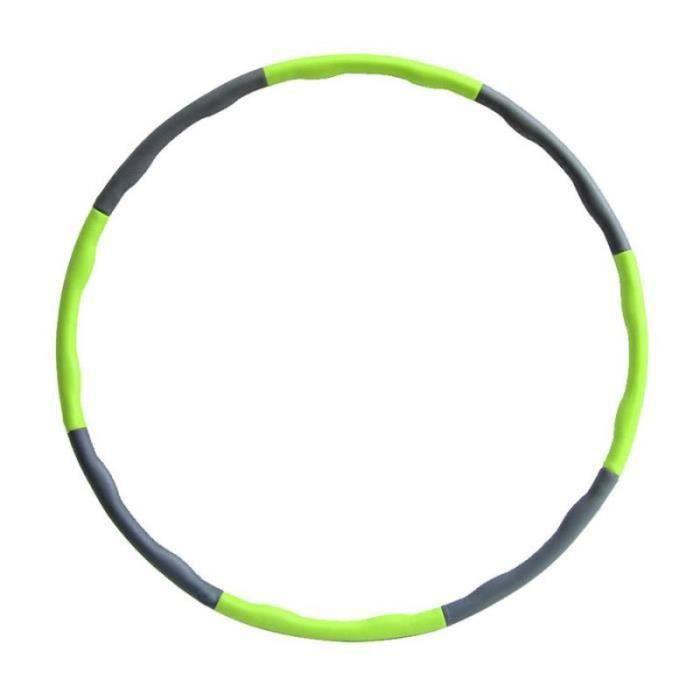 QQ29999-Cerceau de gymnastique Hula Hoop Amovible 8 Sections EVA+PVC