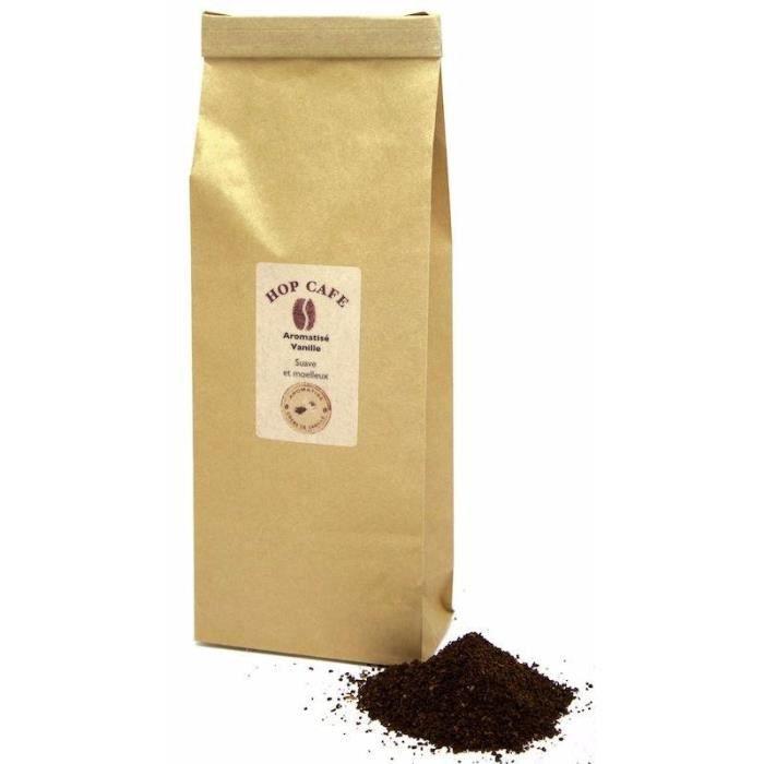CAFÉ Café moulu  aromatisé Vanille pour cafetière à pis
