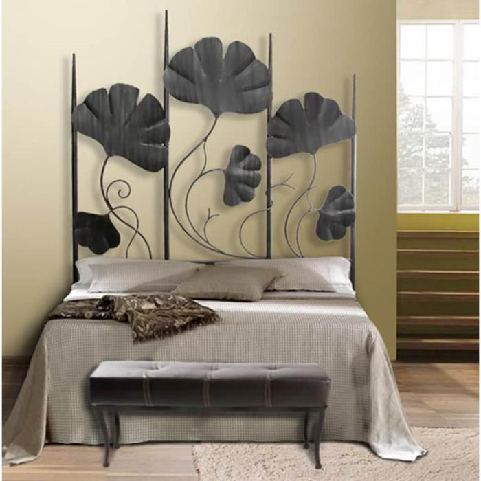 t te de lit en fer forg mod le palmeira achat vente t te de lit cdiscount. Black Bedroom Furniture Sets. Home Design Ideas