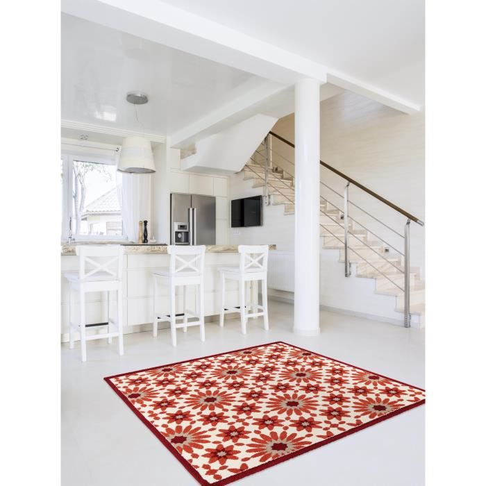 benuta tapis gazania orange 150x150 cm achat vente tapis cdiscount. Black Bedroom Furniture Sets. Home Design Ideas
