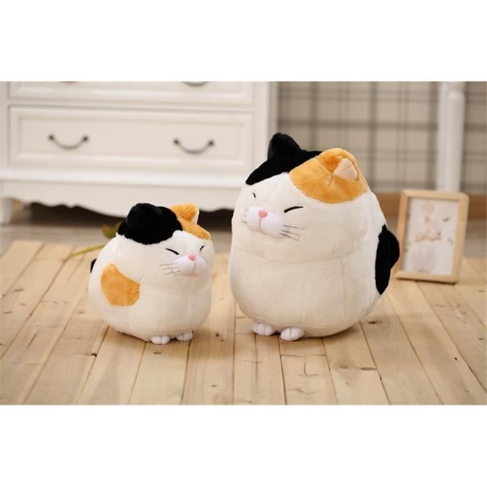 peluche grosse chat jouet cadeau pour enfants blanc 40cm. Black Bedroom Furniture Sets. Home Design Ideas