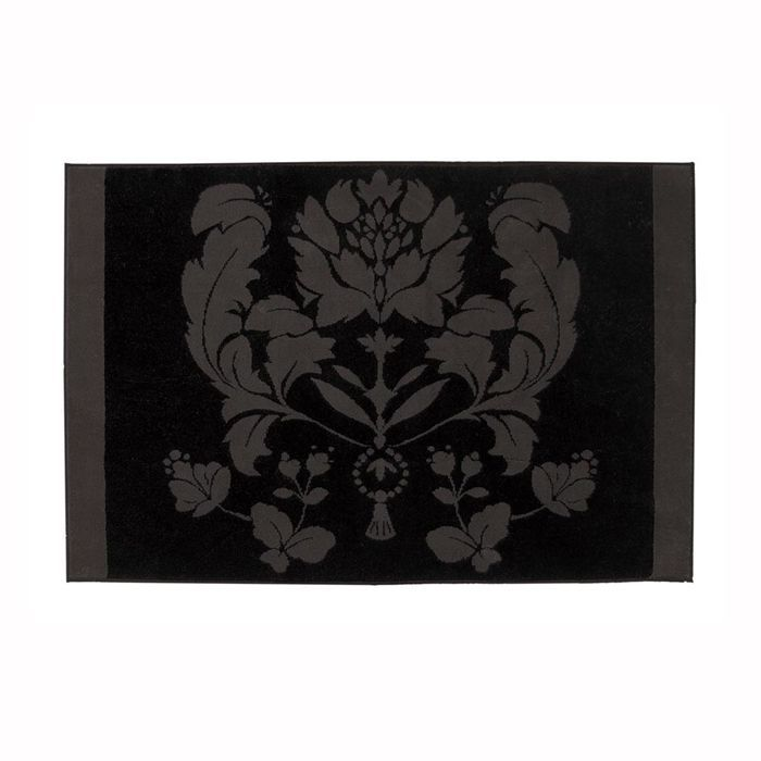 baroque black white tapis de bain achat vente tapis bain cdiscount. Black Bedroom Furniture Sets. Home Design Ideas