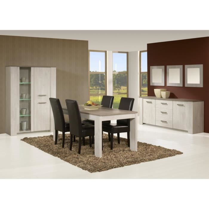 Salle manger contemporaine coloris andes oak humphy for Salle a manger contemporaine
