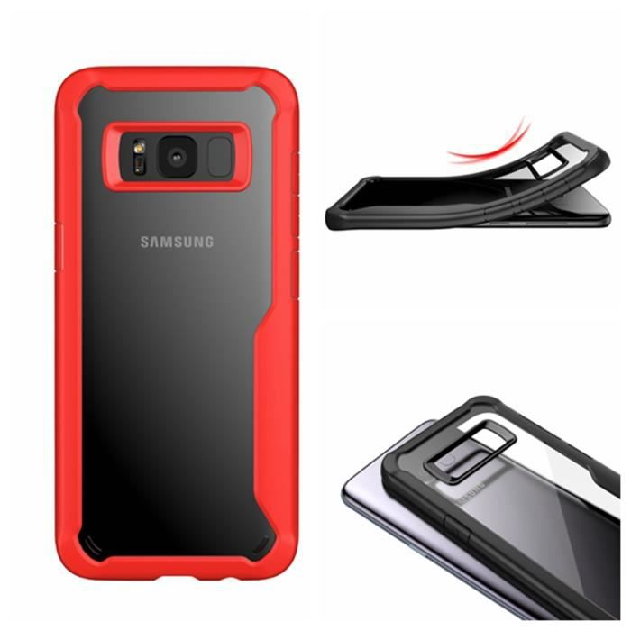 Housse Etui Coque Bumper Case Cover Tpu Samsung Galaxy S8 Couleur Rouge Cell Phones & Accessories