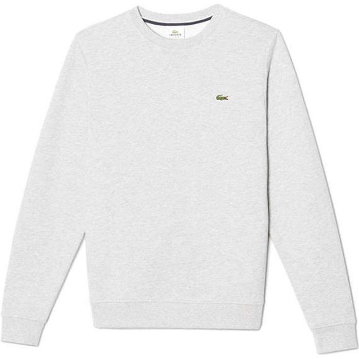 sweatshirt lacoste homme blanc