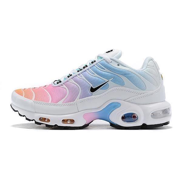 Baskets Nike Air Max Plus TN Chaussures Blanc Rose Bleu pour Femme ...