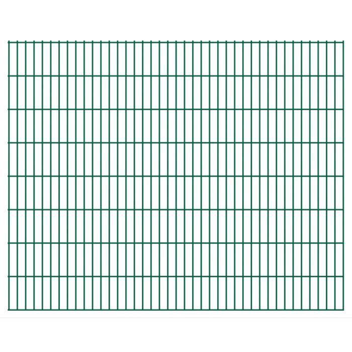CLÔTURE - GRILLAGE vidaXL Panneaux de clôture 2D pour jardin 2008x163
