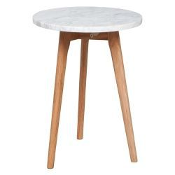 Table d 39 appoint zuiver white stone small achat vente for Table d appoint fly