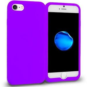 coque iphone 7 silicone violet