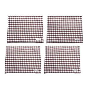 NAPPE DE TABLE Ensemble de 6 tissu écossais nappe / joli napperon
