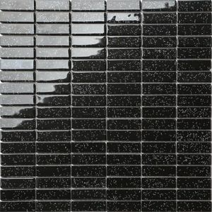 CARRELAGE - PAREMENT 1 m2 Carrelage mosaïque en verre Noir Avec des pai
