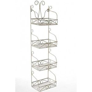 etagere en fer blanc achat vente etagere en fer blanc pas cher cdiscount. Black Bedroom Furniture Sets. Home Design Ideas