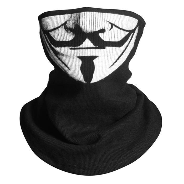 V pour Vendetta Cosplay Cagoule Masque Balaclava Réglable Moitié du Visage