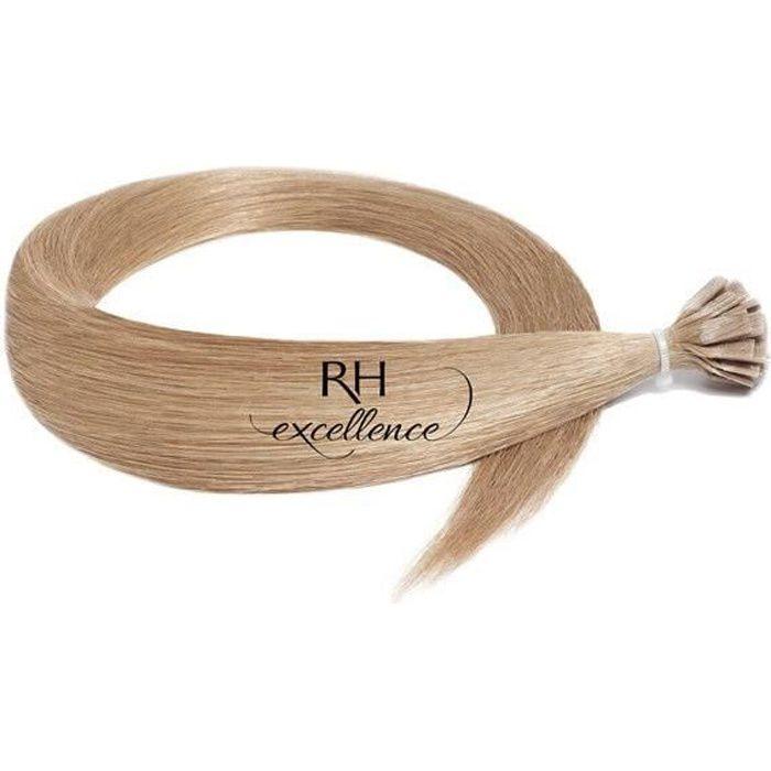Extension Keratine - Lisse - Blond très clair doré cendré N°18 - Extension a chaud - Excellence (RH : N°18 Blond très clair doré ...