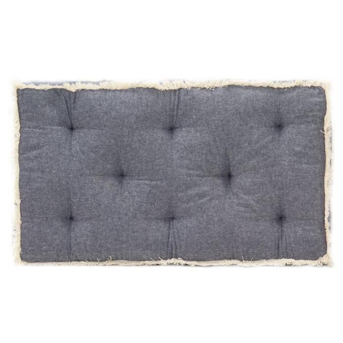 VIE5021Chic Coussin de canapé palette - Coussin extérieur Coussin de sol Grand Confort Galettes de chaise Bleu 73x40x7 cm