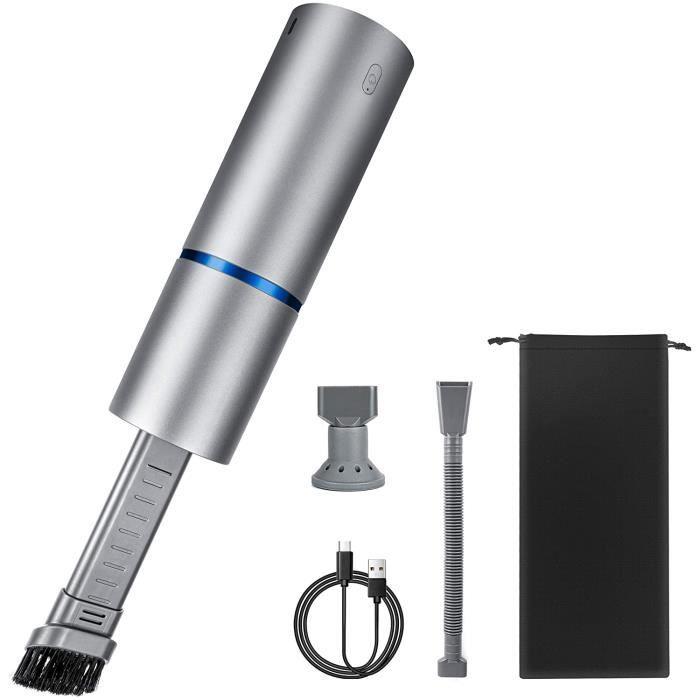 MOSRACY Aspirateur Voiture à Main Sans Fil,4500 Pa Aspiration Forte 85w Ultra-léger Pour Voiture, Mini Aspirateur Rechargeable Avec