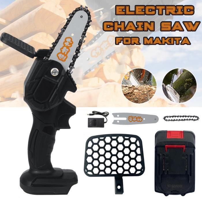 550W Guide Tronçonneuse Elagueuse 4 Pouces électrique Cordless Portable à Une Main avec Batterie
