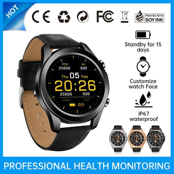 Smart watch Nouvelle montre intelligente Bluetooth W3 Mesure de la fréquence cardiaque d'appel plein écran FWX210305001BK