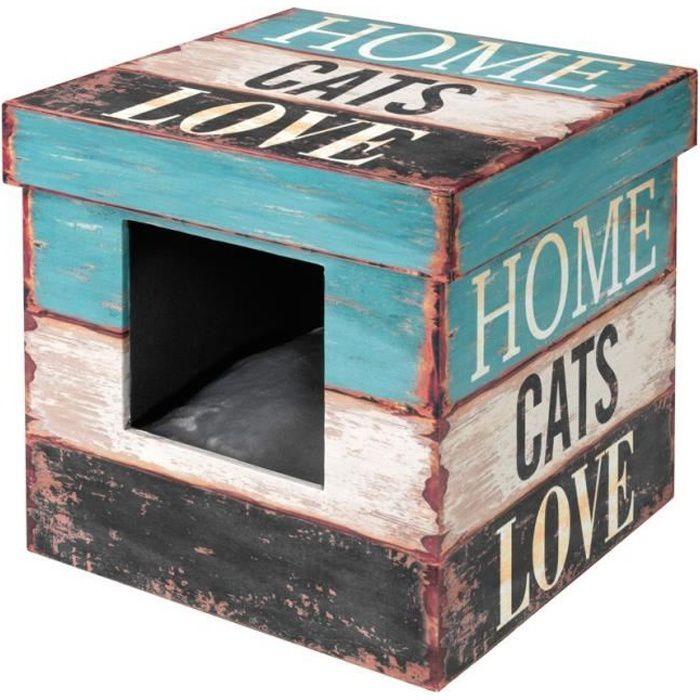 D&D Maisonnette Box Love S - 35x35x35cm - Pour chat ou petit chien