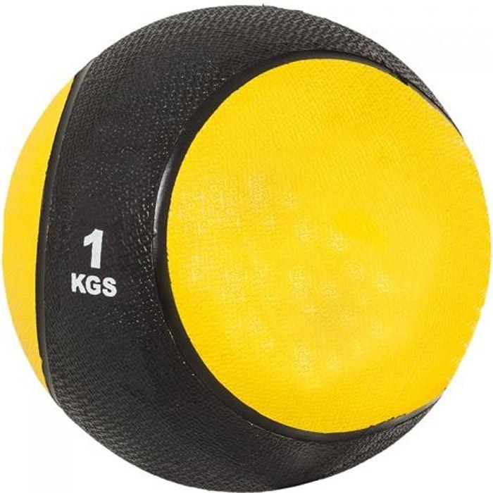 Gorilla Sports Médecine ball 1kg jaune-noir