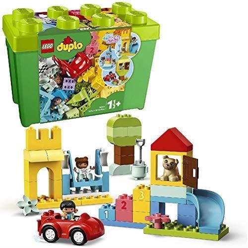LEGO 10914 DUPLO La boîte de briques deluxe Ensemble de construction avec rangement, Premières briques jouet d'apprentis 1091