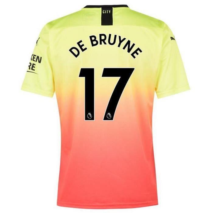 Nouveau Maillot Puma Homme Manchester City Third Flocage Officiel De Bruyne Numéro 17 Saison 2019-2020