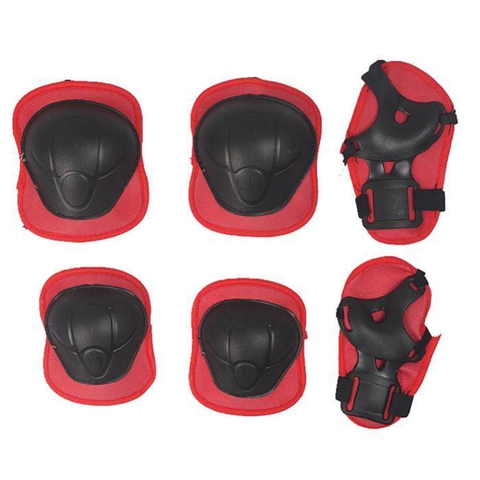 PROTEGE-CHEVILLES - CHEVILLERE,6 pièces genouillères coudières vélo Skateboard poignet protecteur enfants ski protège - Type Red