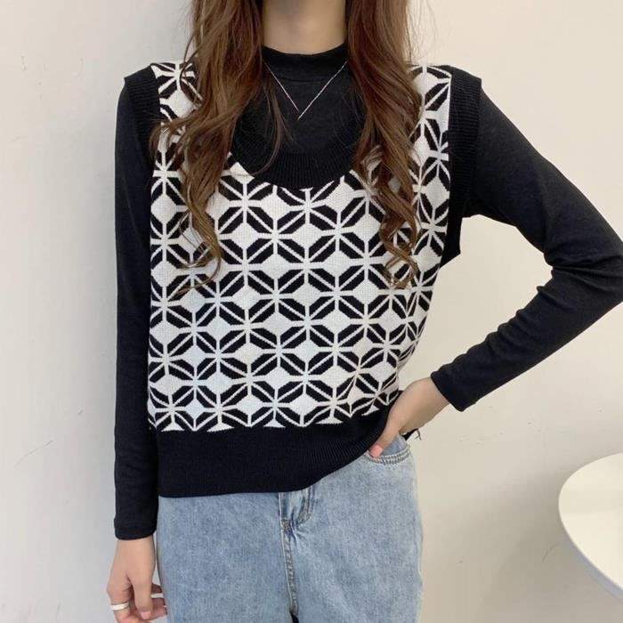 Chandails à manches longues imprimés à la mode pour femmes