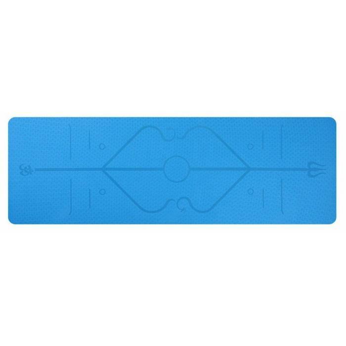 Veronique Tapis Yoga -Tapis De Sport Fitness a La Maison -Tapis de Pilates,Poids léger,Antidérapant 183 * 61 * 0,6 cm bleu