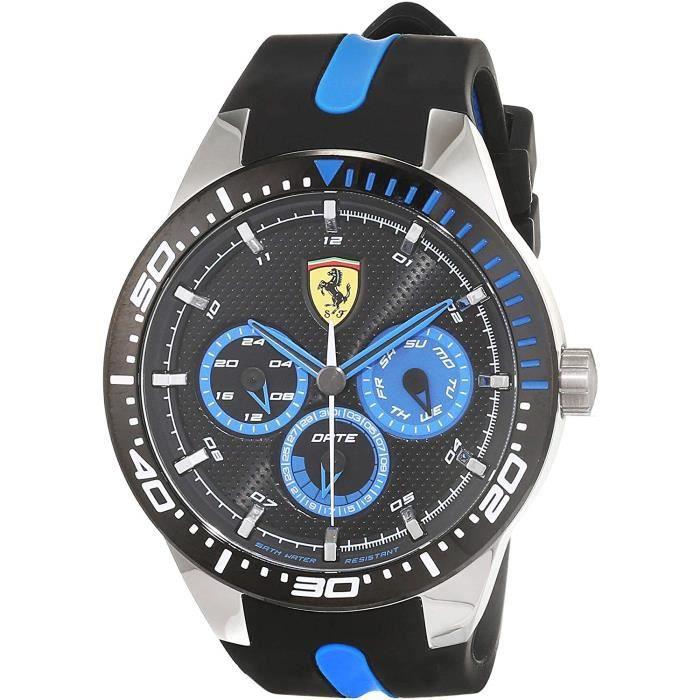 Scuderia Ferrari Hommes Multi-cadrans Quartz Montres bracelet avec bracelet en Silicone - 830587 4792