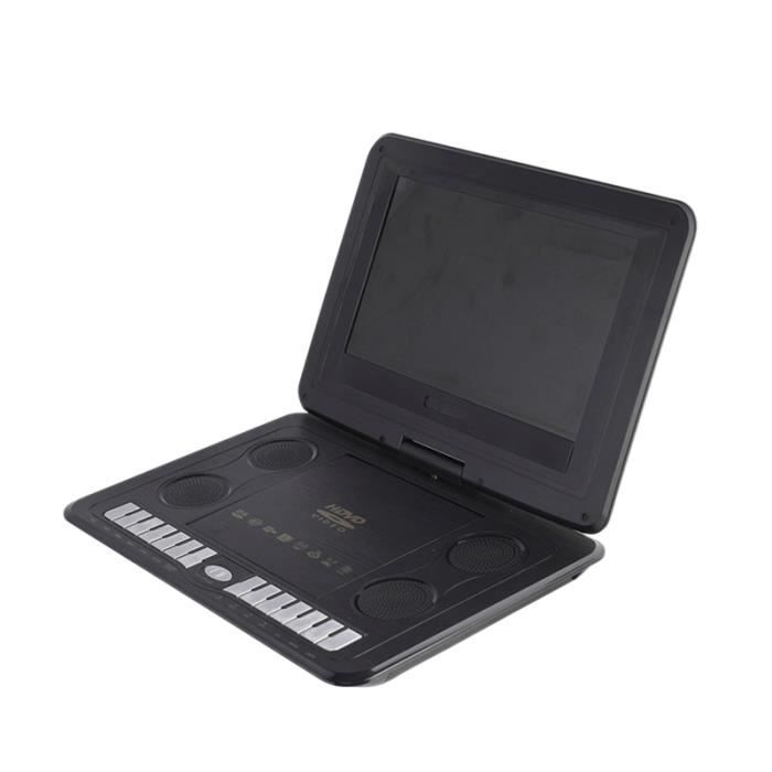Portable Mini Lecteur DVD 13.8 Pouces HD TV Films LCD Mobile Rotation de L'éCran Usb Pivotant pour Voiture Multi Media Jeu VidéO
