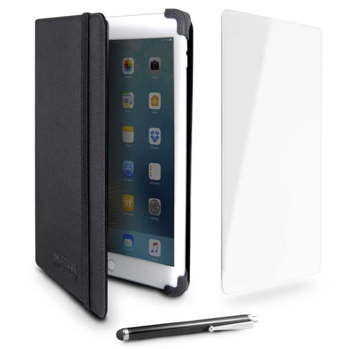 Urban Factory Starter Pack Universel 10.1- - Étui de protection avec protection en verre trempé et stylet tactile pour tablette